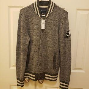 American Eagle Men's Varsity Bomber Sweater Jacket
